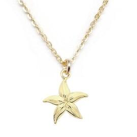"Julieta Jewelry Starfish Gold Charm 16"" Necklace"