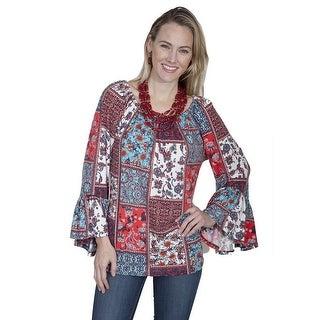 Scully Western Shirt Womens Long Sleeve Print Pullover HC254