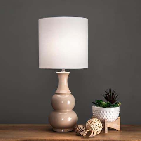 "nuLOOM 29"" Samantha Ceramic Gourd Linen Shade Table Lamp"