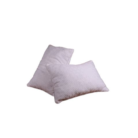 AJD Home Medium Memory Foam Polyester Fill Hybrid Hypoallergenic Bed Pillow, 27 In. x 20 In. in White