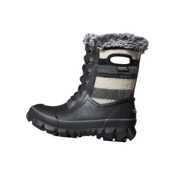 Bogs Outdoor Boots Women Arcata Stripe Wool Waterproof Insulated