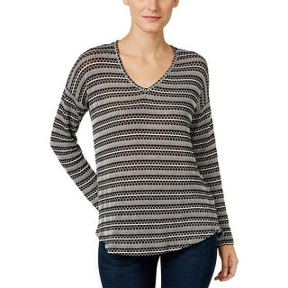 Two by Vince Camuto Womens V-Neck Sweater Knit Long Sleeves