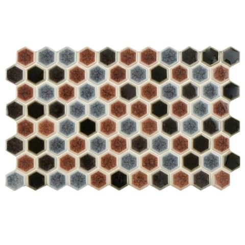 "SomerTile Casella Bruno 5.5"" x 9"" Porcelain Floor and Wall Tile"