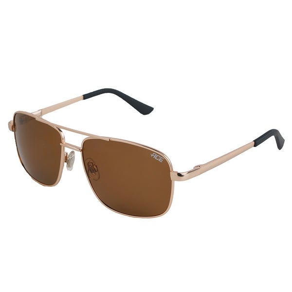 fb650380670 Shop Polarized Pace Sunglasses Matte Gold Brown - One size - Free Shipping  On Orders Over  45 - Overstock.com - 25634947