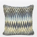 "G Home Collection Luxury Blue Big Chevron Pattern Pillow 18""X18"" - Thumbnail 0"