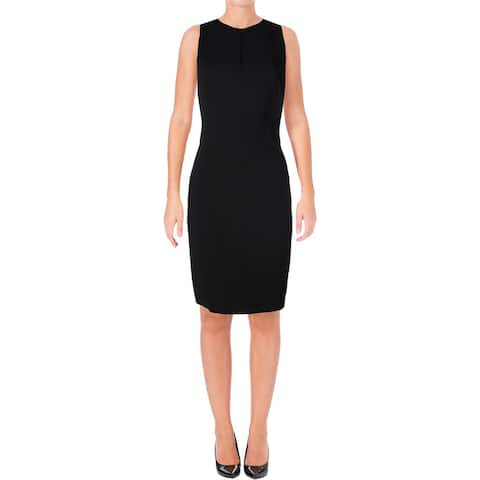 367b4525392 Lauren Ralph Lauren Womens Marca Wear to Work Dress Ponte Keyhole