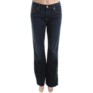 7 For All Mankind Womens Kimmie Low Rise Form Fitted Bootcut Jeans
