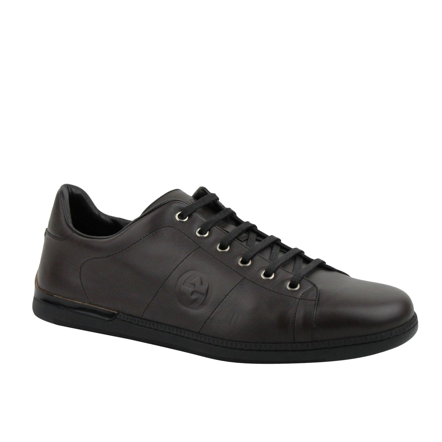 Gucci Men's Lace up Cocoa Brown Leather