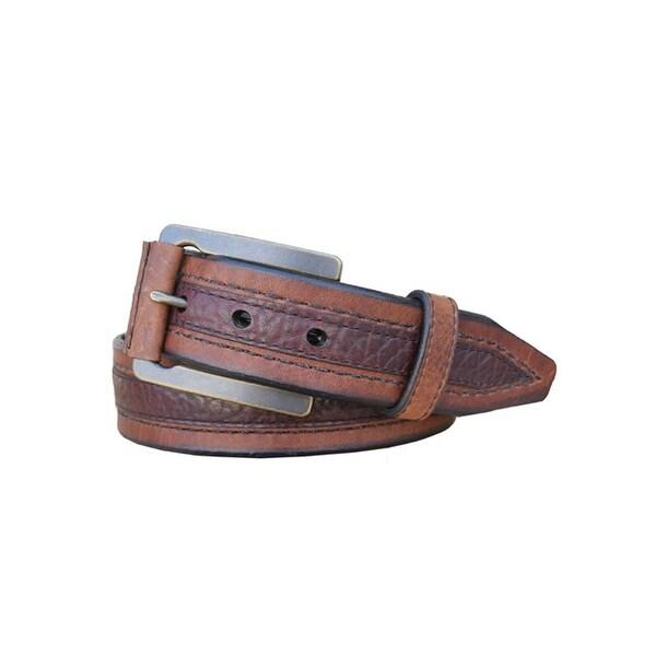 Vintage Bison Western Belt Mens Chippewa Leather Saddle Peanut