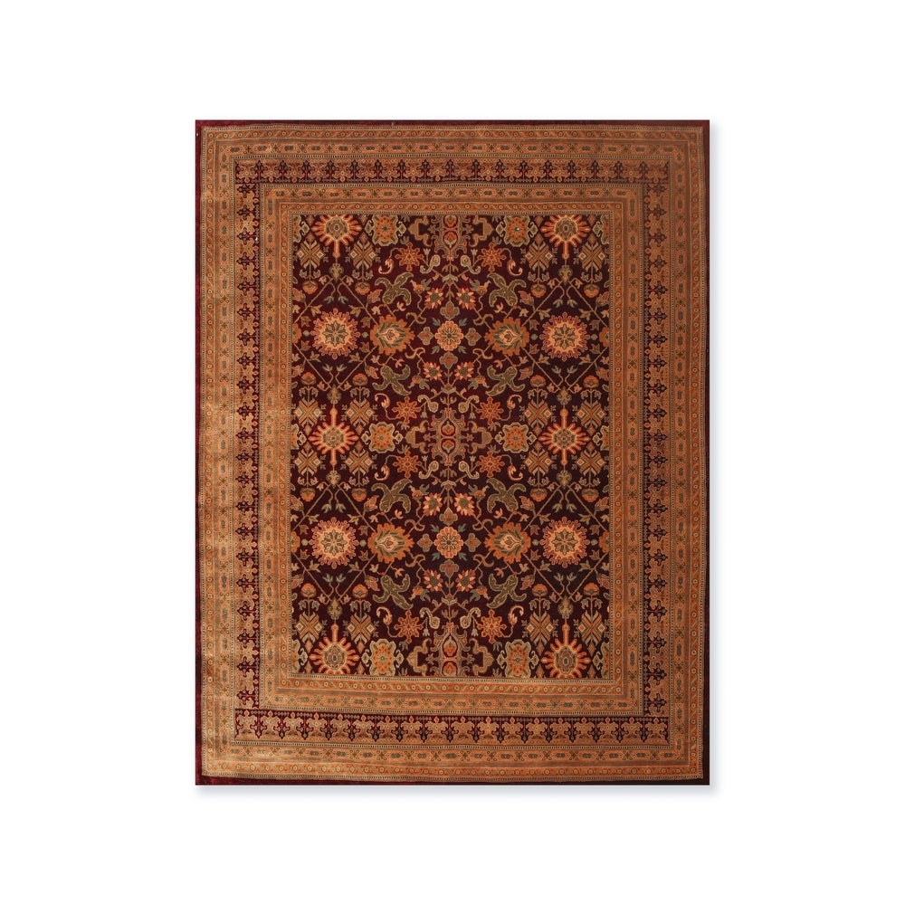 Overstockhand Knotted Wool Persian Oriental Area Rug 8 3 X10 5 8 X 10 8 X 10 Multi Color Dailymail