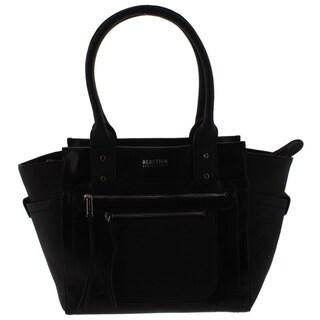 Kenneth Cole Reaction Womens Christine Satchel Handbag Faux Leather - LARGE