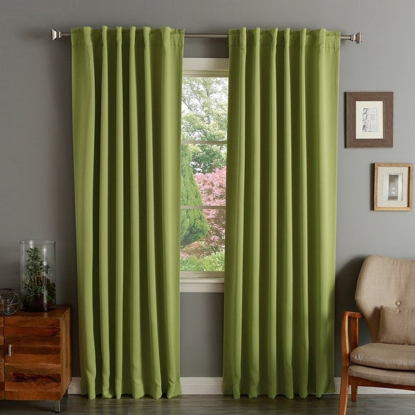 Solid Insulated Thermal Blackout Curtain Panel Pair. Opens flyout.