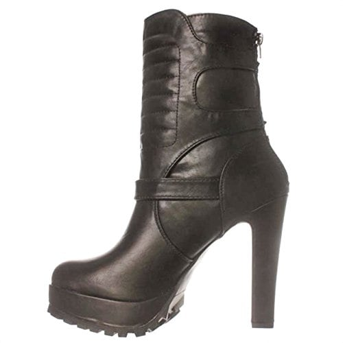 JFab Barbara Mid-Calf Boots - Black