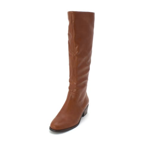 Bar III Womens Vayla Almond Toe Knee High Fashion Boots