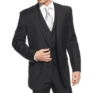 Calvin Klein Mens Two-Button Blazer Wool Slim Fit