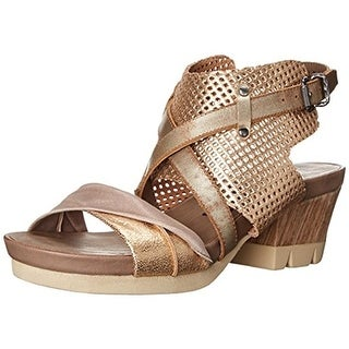 OTBT Womens Take Off Leather Perforated Strappy Sandals