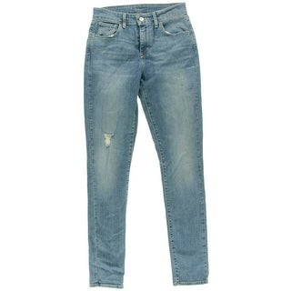 Levi's Womens Juniors 32 Destroyed High Waist Skinny Jeans - 3