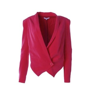 Rebecca Minkoff Womens Becky Silk Long Sleeves One-Button Blazer - 2