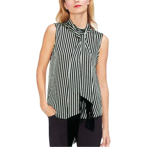 Vince Camuto Womens Tie-Neck Sleeveless Blouse Top