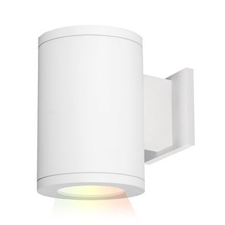 """WAC Lighting DS-WS05-SS-CC Tube Architectural ilumenight Single Light 7-1/8"""" Tall Integrated LED Outdoor Wall Sconce with Spot"""