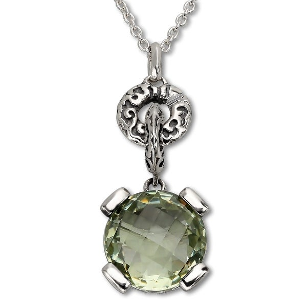 Evert DeGraeve 6 ct Green Amethyst Pendant in Sterling Silver