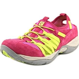 Easy Spirit Ezline Women W Round Toe Suede Pink Walking Shoe