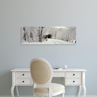 Easy Art Prints Panoramic Images's 'Covered Bridge PA' Premium Canvas Art