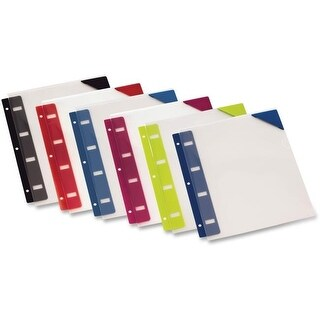 Oxford OXF14360 Retractable Binder Pockets, Poly - Assorted