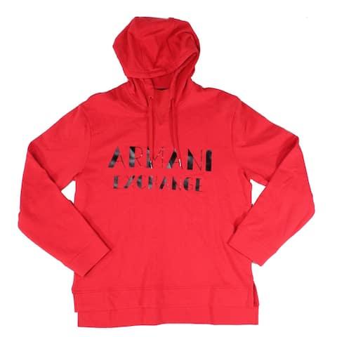 Arman Exchange Mens Sweater Bright Graphic Logo Hood