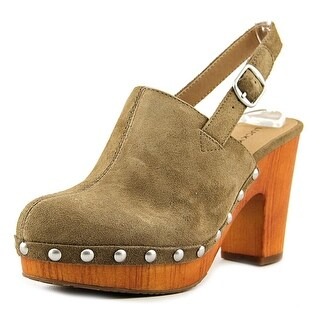Lucky Brand Vevina Women Round Toe Suede Mules