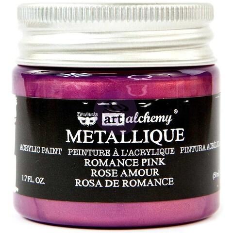 Finnabair Art Alchemy Acrylic Paint 1.7 Fluid Ounces-Metallique Romance Pink