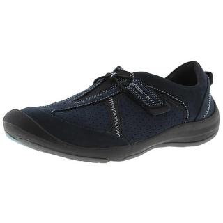 Clarks Womens Asney Nubuck Athletic Fashion Sneakers - 5 medium (b,m)