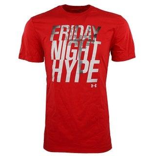 "Under Armour Men's Heatgear ""Friday Night Hype'"" T-Shirt - red/white/grey"
