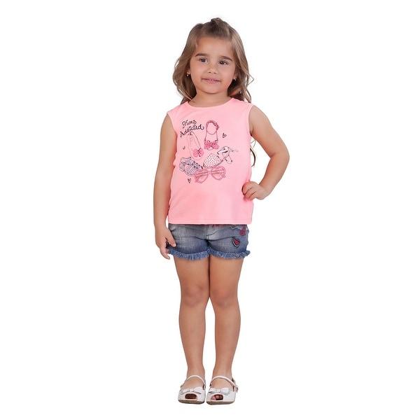 Pulla Bulla Toddler Girl Graphic Tank Top Sleeveless Tee
