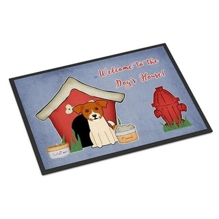 Carolines Treasures BB2862MAT Dog House Collection Jack Russell Terrier Indoor or Outdoor Mat 18 x 0.25 x 27 in.