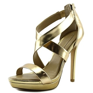 BCBG Max Azria Senna   Open-Toe Patent Leather  Heels