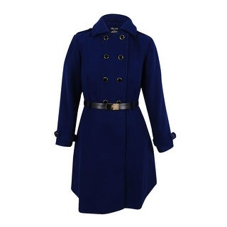 City Chic Women's Trendy Plus Size A-Line Peacoat - Navy