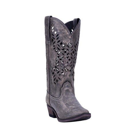 """Laredo Western Boots Womens Chopped Out Snip Toe 13"""" Shaft"""