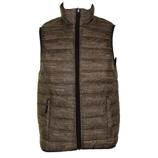 Hawke Co. Outfitter Mens Brown Black Reversible Puffer Vest XS