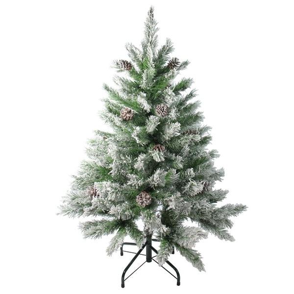 4' Flocked Angel Pine Artificial Christmas Tree - Unlit