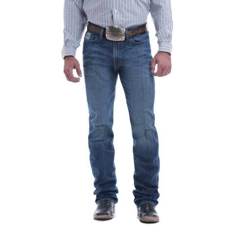 Cinch Western Denim Jeans Mens Silver Label Straight Slim - Medium Wash