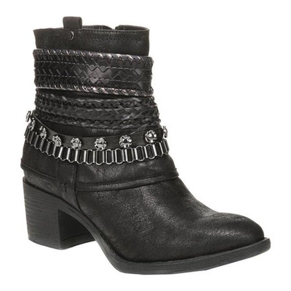 Carlos by Carlos Santana Women's Cole Bootie Black Manmade Leather