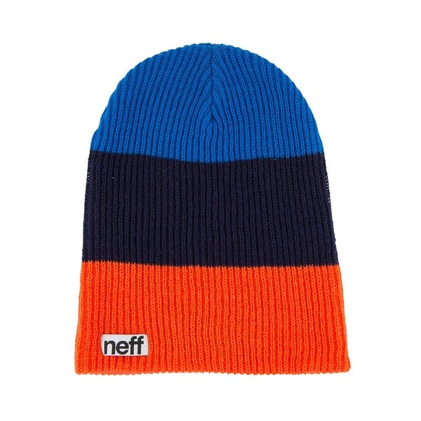 fa7648cd3c2042 Shop Neff Trio Red/Navy/Blue Knit Hat - Free Shipping On Orders Over $45 -  Overstock - 15099693
