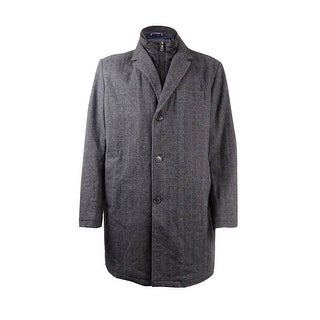 Tommy Hilfiger Men's Wool Notch-Collar Coat (XXL, Herringbone) - herringbone - XxL