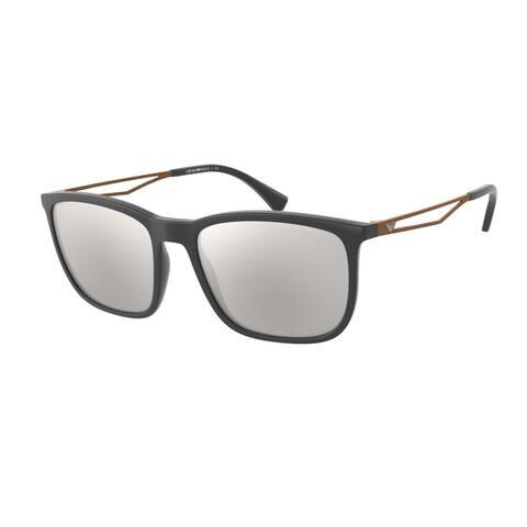Emporio Armani EA4154 54376G 56 Matte Grey Man Pillow Sunglasses