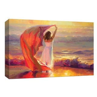 """PTM Images 9-148129  PTM Canvas Collection 8"""" x 10"""" - """"Ocean Breeze"""" Giclee Women Art Print on Canvas"""