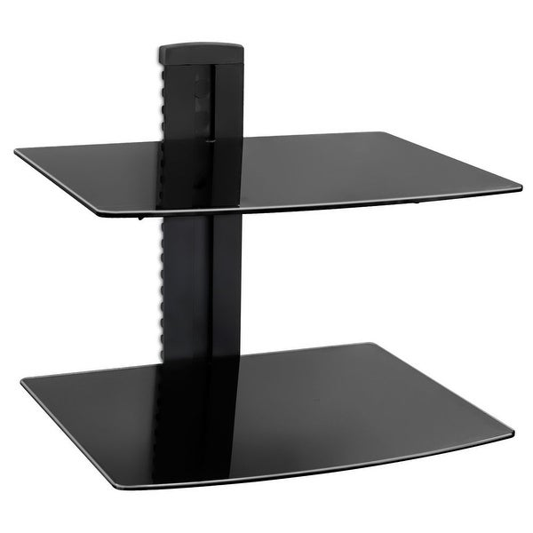 Mount-It! Wall Mounted AV Component Shelving System with Adjustable Shelves