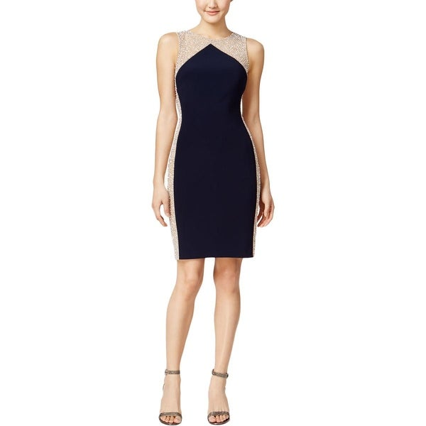 Xscape Womens Cocktail Dress Beaded Colorblock - Free Shipping Today ...