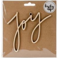 Kaisercraft  Joy Script Word Lucky Dip Wood Flourish - 4.75 x 4.75 in.