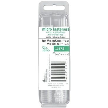 Micro Stitch Fastener Refills 4.4mm-White 1,200/Pkg - White
